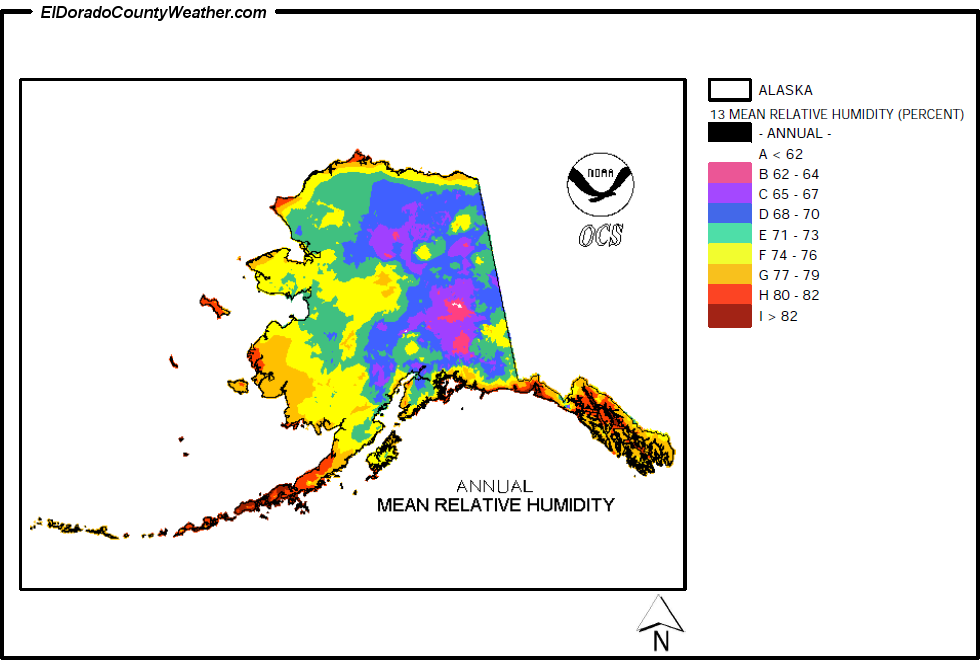 Alaska Yearly Annual And Monthly Mean Relative Humidity - Us-humidity-map