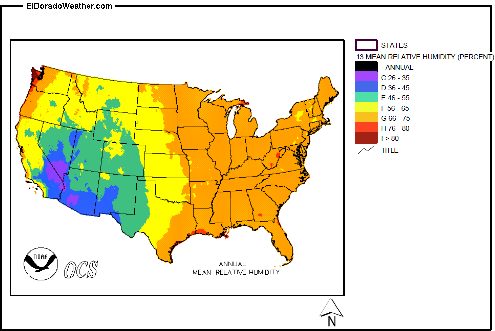 United States Yearly [Annual] and Monthly Mean Relative Humidity on alaska lower 48 map, usa map, sierra leone latitude and longitude map, us geographical map, oregon state map, letter size landscape us map, flat us map, connecticut longitude and latitude map,