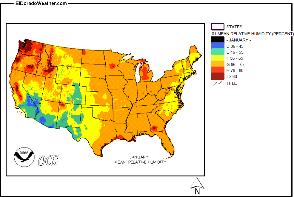 Humidity World Map.United States Yearly Annual And Monthly Mean Relative Humidity