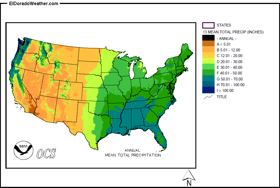 United States Yearly [Annual] and Monthly Mean Total Precipitation