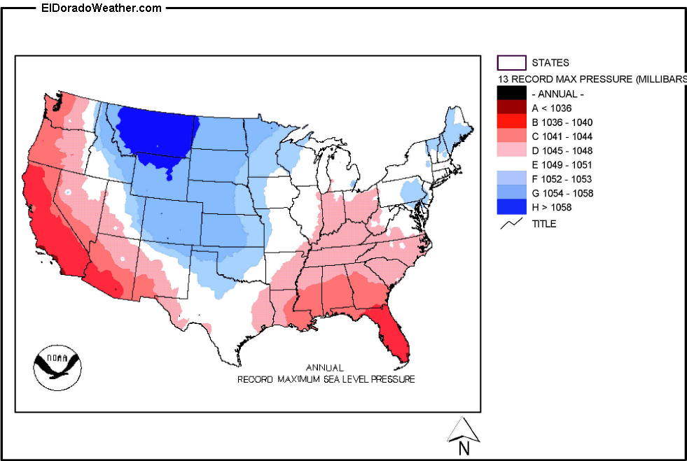 Index Of Climateus Climate Mapsimageslower 48 Statespressure - Sea-level-map-of-us