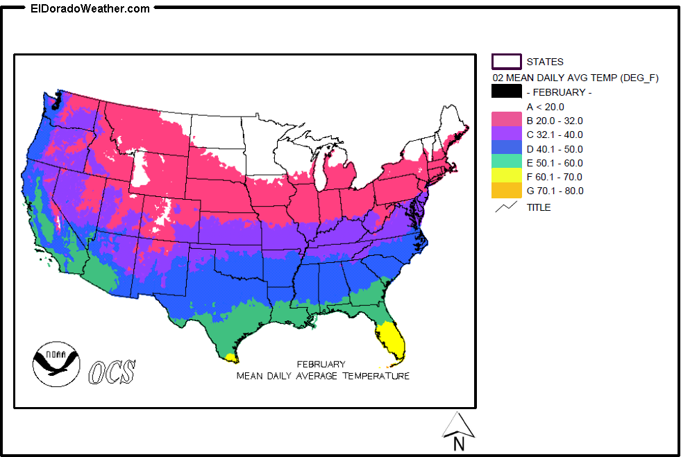 United States Temperature Map | casami