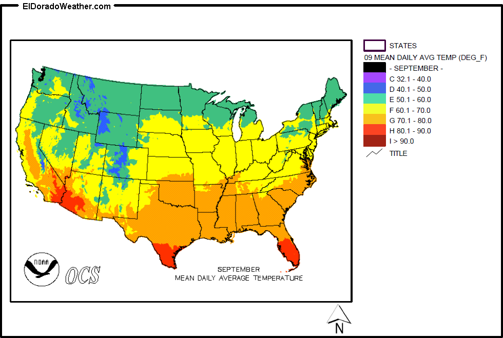 United States Yearly Annual Mean Daily Average Temperature For