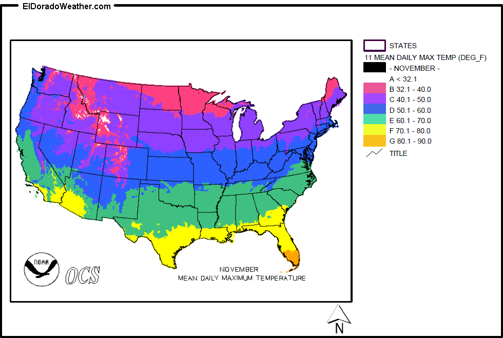 United States Yearly Annual Mean Daily Maximum Temperature for ... on