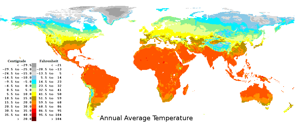 World average yearly annual temperatures gumiabroncs Choice Image