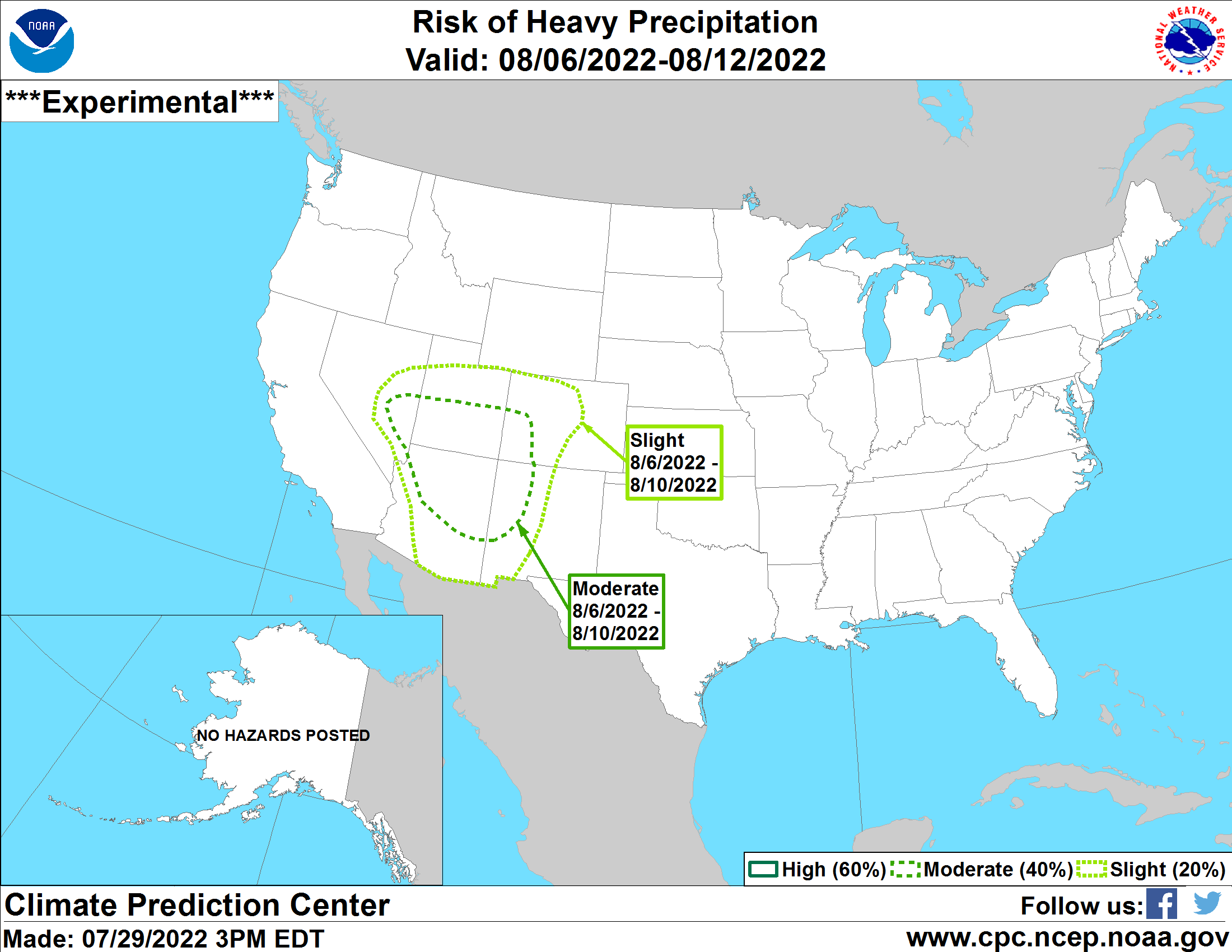 U.S. 3-7 Day Hazards Outlook Map