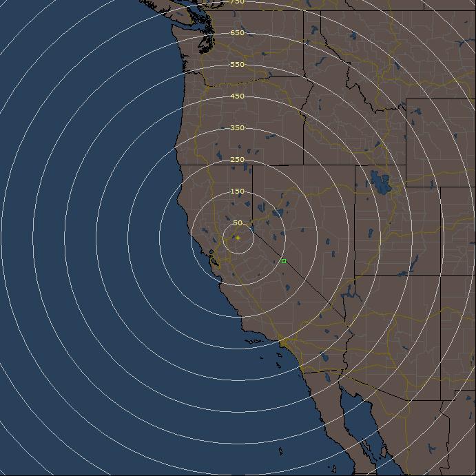 animated live lightning detection rain radar loop for california