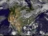 North America Color Infrared Animated Satellite Loop