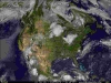 Visible & Infrared Canada Satellite Map